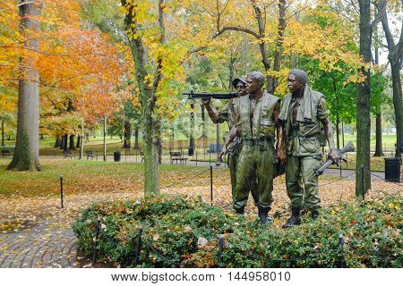 WASHINGTON, D.C. - NOVEMBER 5, 2015:  Vietnam Veterans Memorial  in Washington, D.C. United States