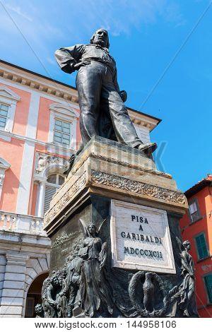 Statue Of Cosimo I In Knights Square, Pisa, Italy