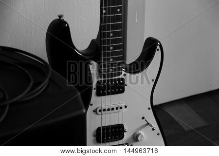 a eletric guitar or a intrument for play music
