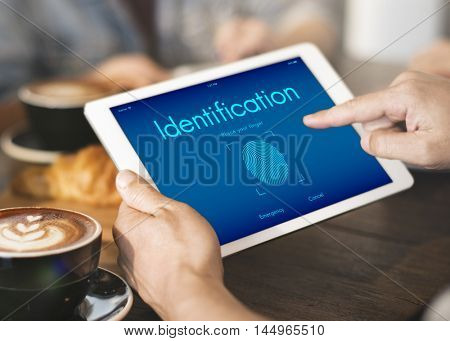 Touch ID Access Cyber Digital Security Graphic Concept