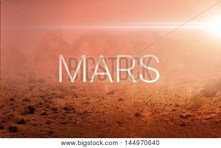 Planet Mars. Elements of this image furnished by NASA
