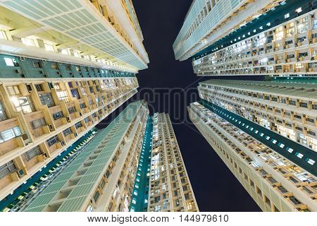 Skyscraper building from low angle