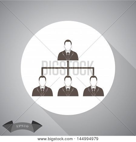 Corporate hierarchy concept. Vector icon for web and mobile.