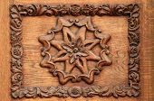 Wooden flower pattern-manual woodcarving medieval beautifuly restored poster