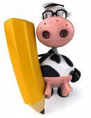 Fun cow poster