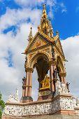 Albert Memorial in London UK at Kensington Gardens in memory of Prince Albert who died of typhoid in 1861 poster