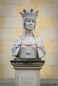 Marie of Romania bust in Citadel of Alba Iulia city in Romania poster