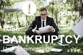 Business Failure Bankruptcy Financial Crisis Recession Concept poster