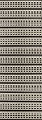 Network RJ-45 patch panel with switches in switching center poster