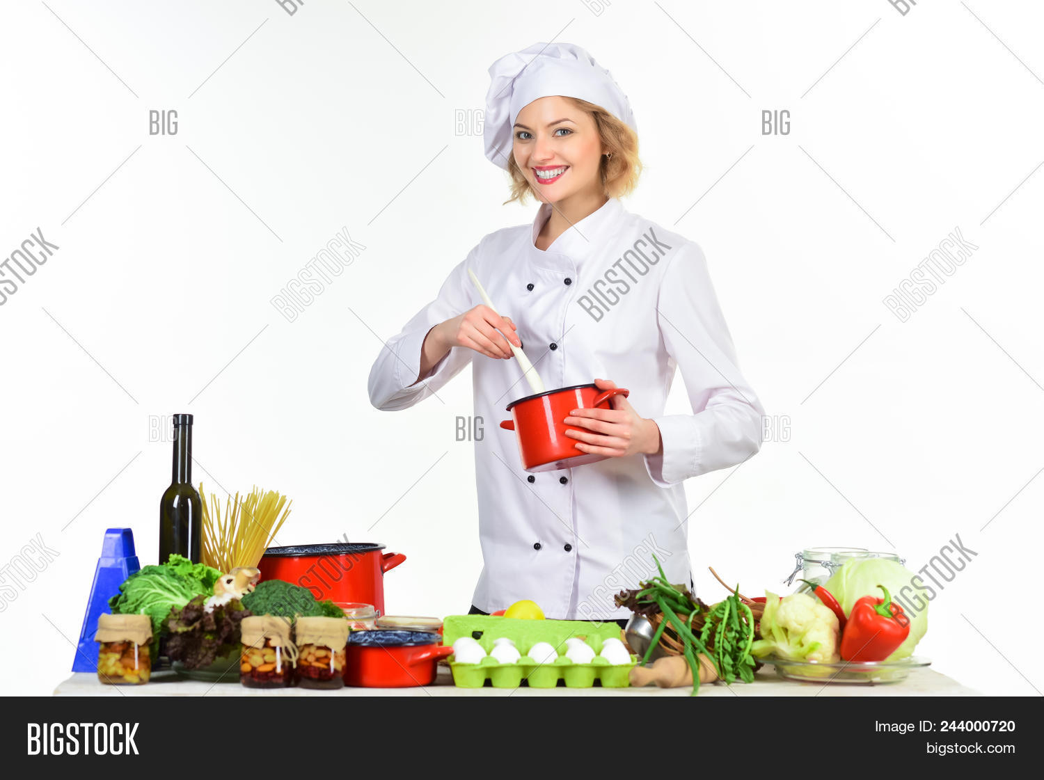 preparing dishes image photo free trial bigstock