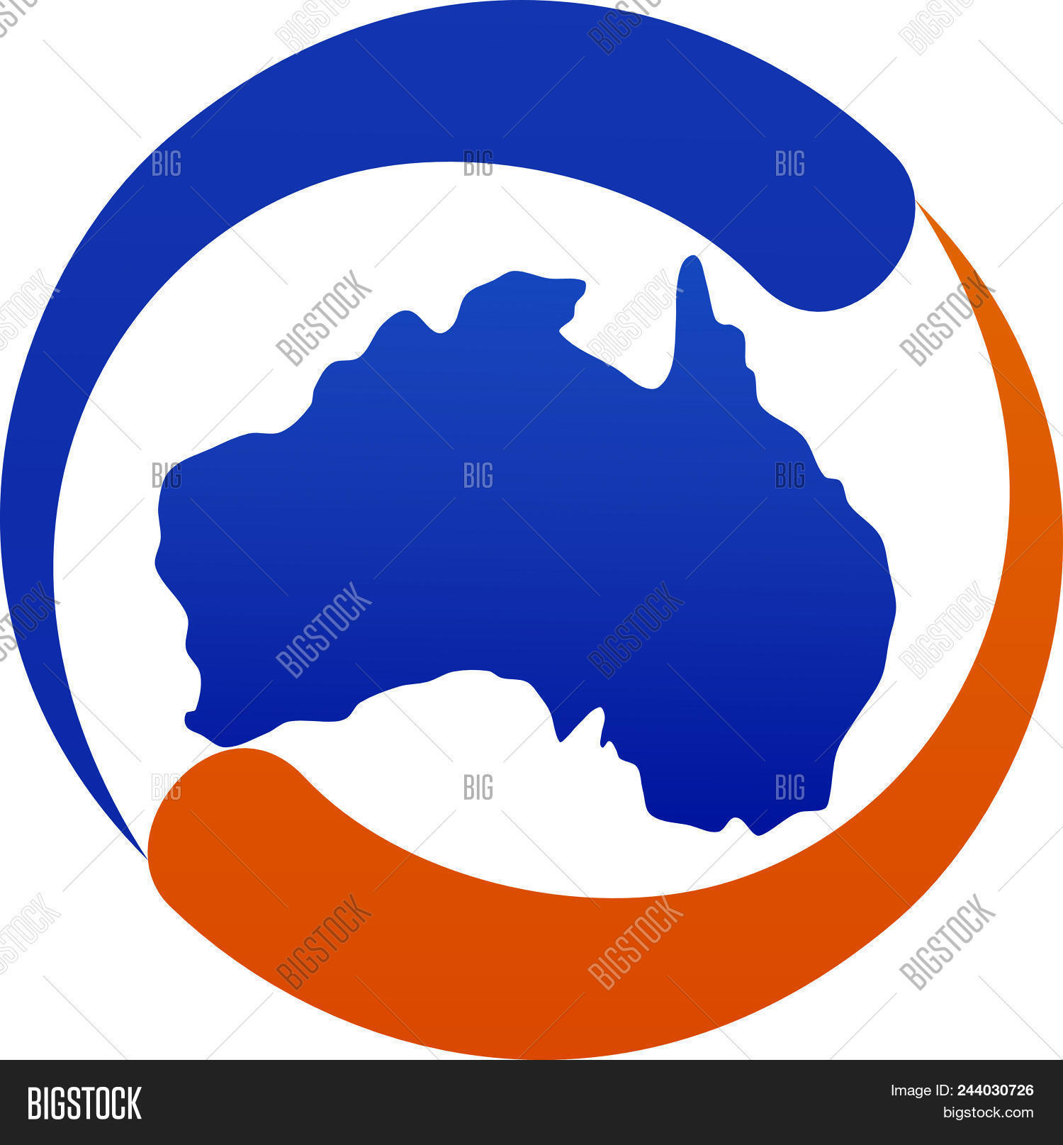 Map Of Australia Logo.Australia Map Logo Vector Photo Free Trial Bigstock