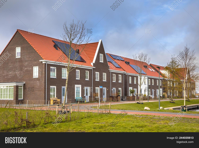Modern Row Houses Image Photo Free