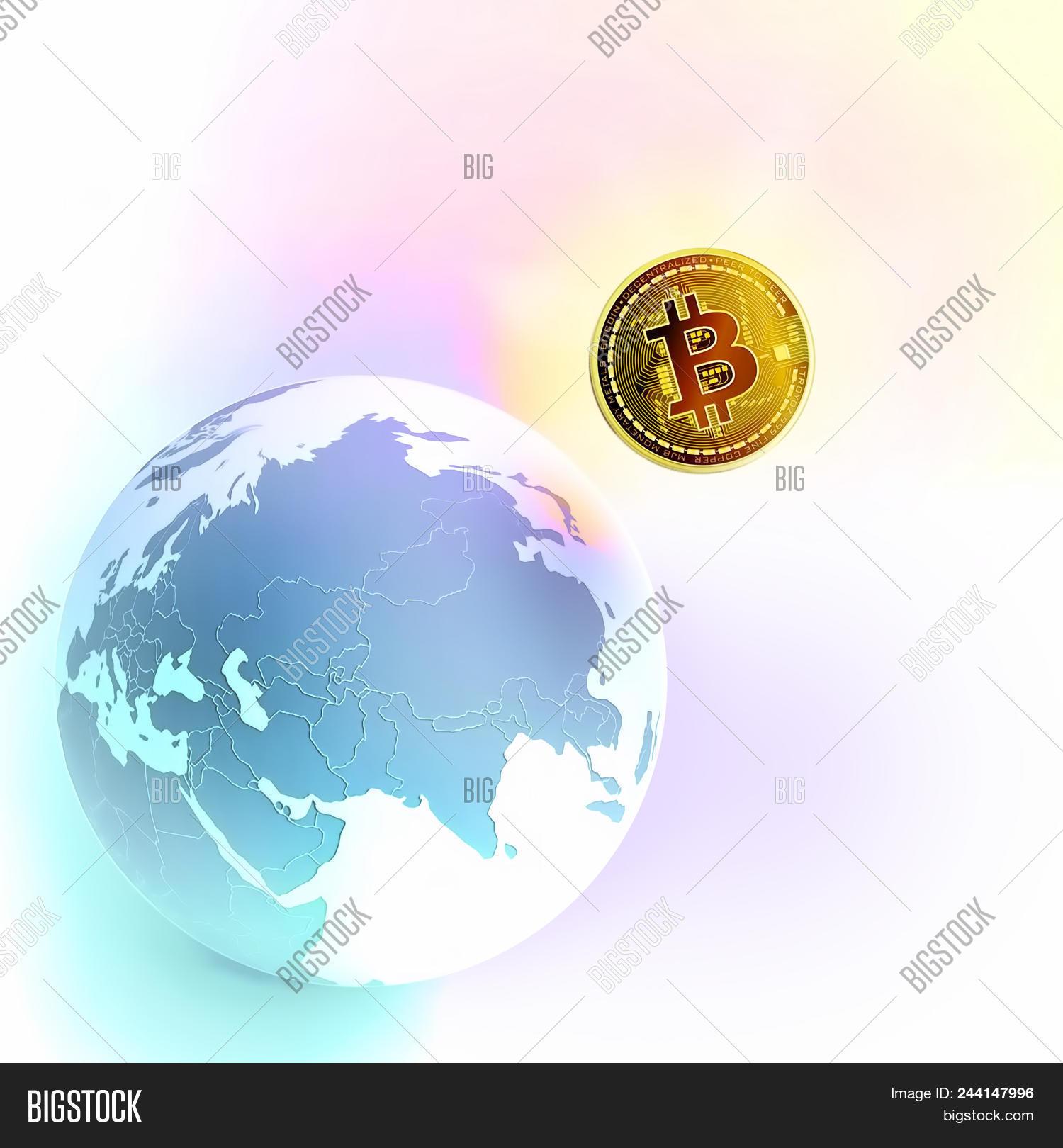 Bitcoin Symbol World Image Photo Free Trial Bigstock