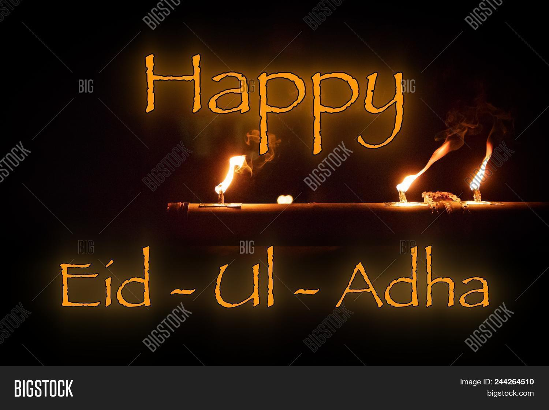 Happy Eid Ul Adha Word Image Photo Free Trial Bigstock