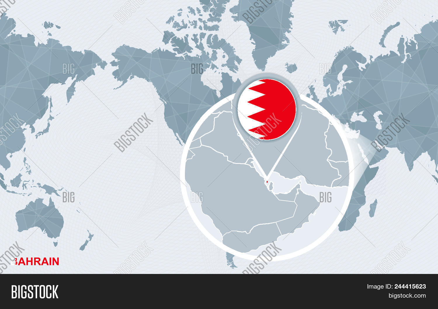 World Map Centered On Vector & Photo (Free Trial)   Bigstock