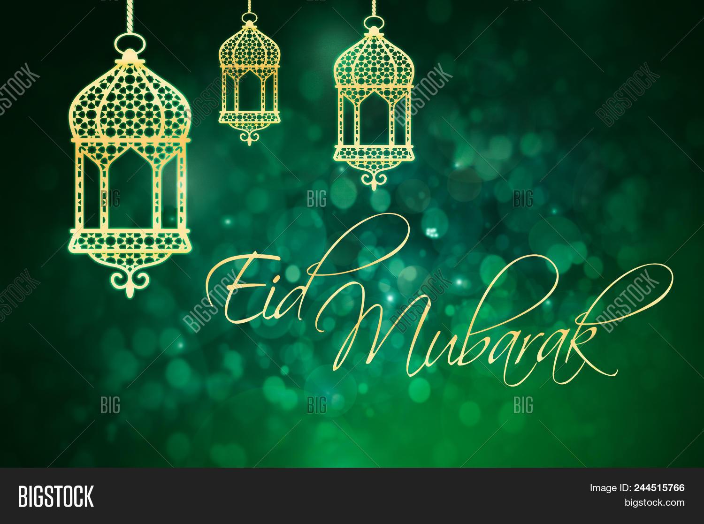 Eid Mubarak Greeting Image Photo Free Trial Bigstock