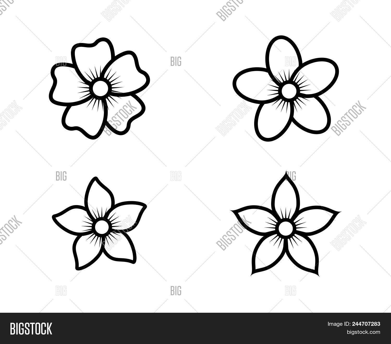 Jasmine flower icon vector photo free trial bigstock jasmine flower icon logo template izmirmasajfo