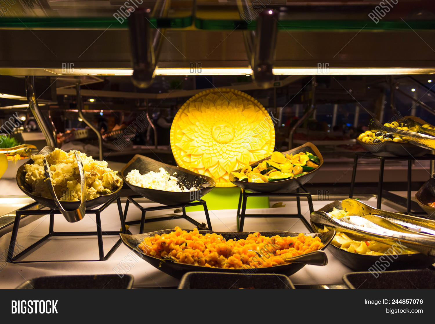 Dining Room Buffet Image Photo Free Trial Bigstock