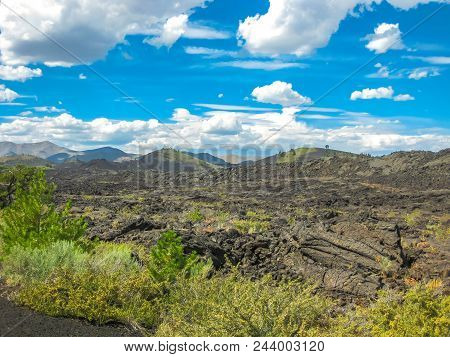 Landscape Of The Craters Of The Moon National Monument And Preserve Between Twin Falls And Idaho Fal