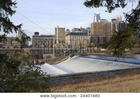 Upper Saint Anthony Falls In Minneapolis