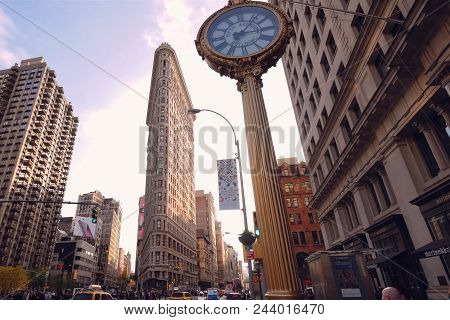 New York, Usa - June 20, 2015: Walking Through The Streets Of New York, Manhattan. The Life Of New Y
