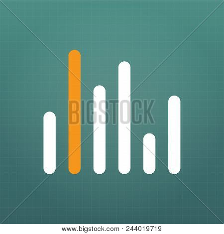 Graph Chart Icon, Vector Illustration Isolated On Modern Background