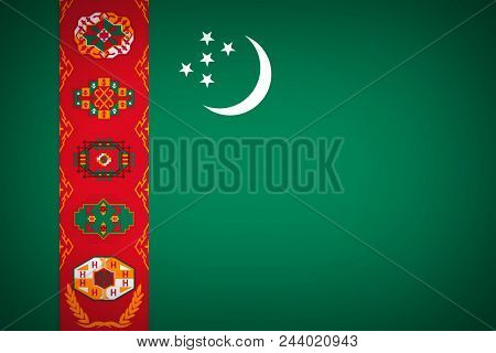 National Flag Of The State Of Turkmenistan - Background