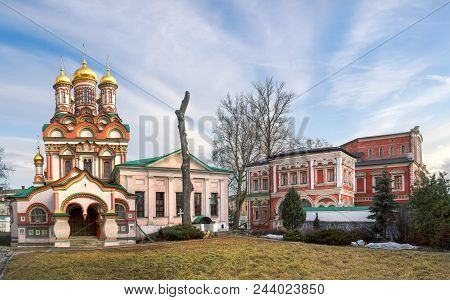 Moscow, Russia - April 4, 2015: Church Of St. Nicholas On Bersenevka.