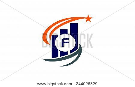 Business Success Solutions Initial F Logo Design