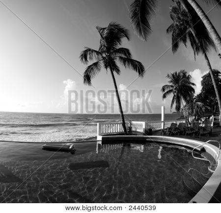 Infinity Swimming Pool Nicaragua Black & White