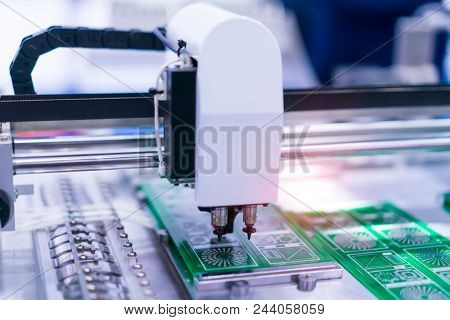 pcb board soldering iron tips of automated manufacturing soldering and assembly  poster