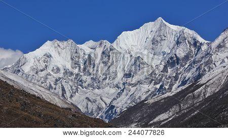 Mountain Of The Langtang Himal Range, Nepal.