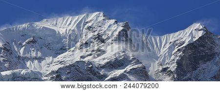 Peak Of The Langtang Himal Range, Nepal.
