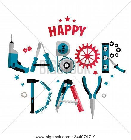 3 September Labor Day Poster Or Banner. Vector Illustration Of Celebration