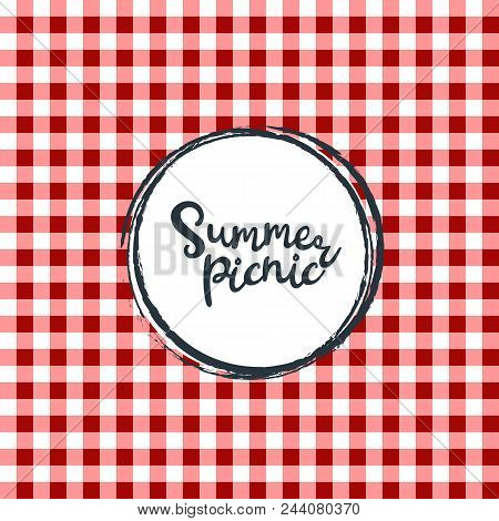 Picnic Table Cloth. Seamless Checkered Vector Pattern. Vintage Color Plaid Fabric Texture. Abstract