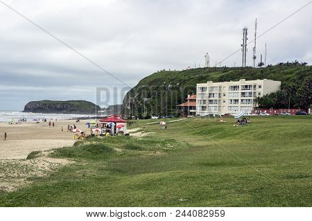Beach City Torres Brazil Sand Grass Rock Cliff Mountain Antenas