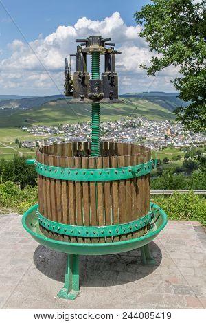 Wine Press At Trittenheim Panorama Germany Picture