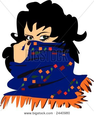 East Woman With A Scarf.