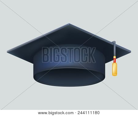 Graduation Cap Excellent Diploma Student Genius School Clever Smart Vector 3d Illustration