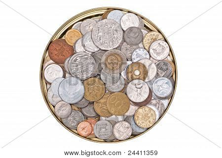 Coins Currency From Multiple Countries.