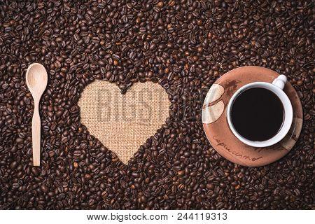 I Love Coffee Top View