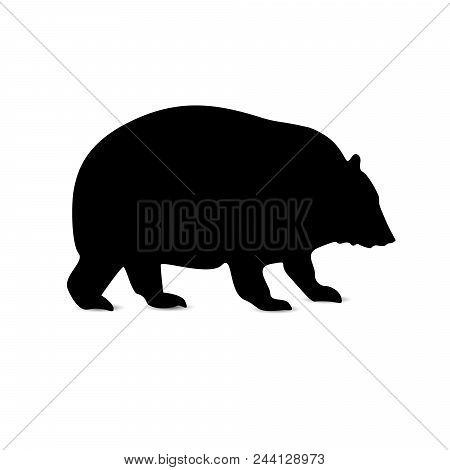 Silhouette Of Himalayas Bear. Icon. Emblem. Logo.