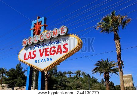 Las Vegas, Usa - March 19: Welcome To Fabulous Las Vegas Sign On March 19, 2013 In Las Vegas, Usa. L
