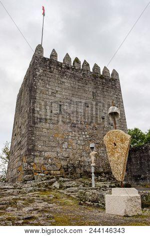 Povoa De Lanhoso, Portugal - May 31, 2018 : Castelo Da Póvoa De Lanhoso, Pilar Braga, Portugal