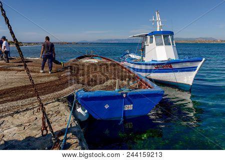 Carloforte, Island Of San Pietro, Italy - 08 May 2014: