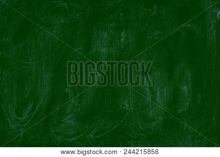 Empty Green Chalk Board Background Blank Blackboard Background. Empty Template.