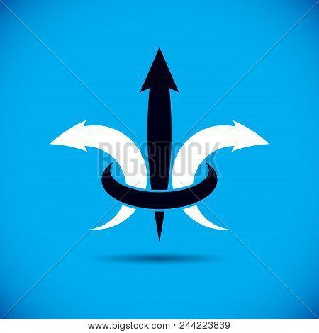 Business Financial Trend, Vector Upward Arrow. Company Increasing  Concept. Business Abstract Logo.