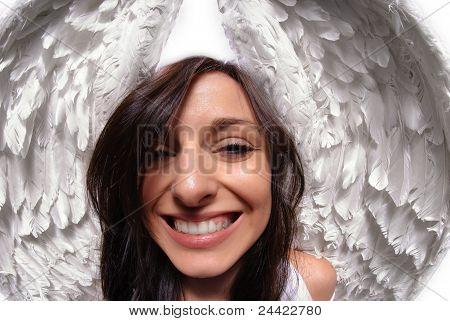 Funny Angel Wings Portrait