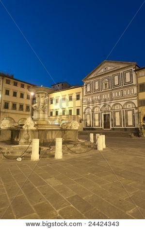 Empoli (Florence Tuscany Italy)) the main square by night poster