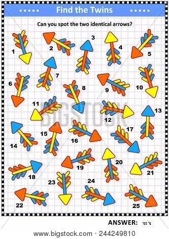 Ig Training Visual Puzzle With Colorful Arrows (suitable Both For Kids And Adults): Can You Spot The